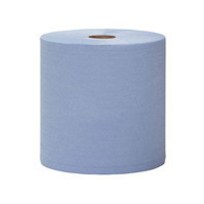 Бумажное полотенце 2х слойное синее