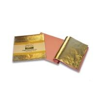 Листовая поталь 14х14см 25лист золото серебро бронза  Италия