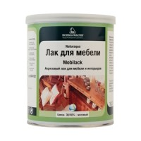 Акриловый лак Naturaaqua Mobilack 30-40% Gloss1 litre Borma Wachs